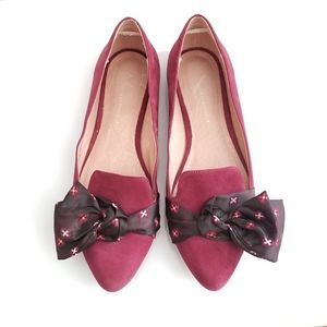 Anthropology Suede Flats